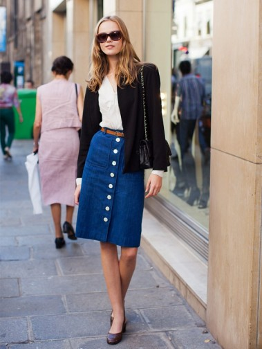 button-front-skirts-street-style-looks-7