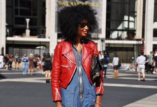 julia_sarr-jamois_denim-dress-red-leather-jacket