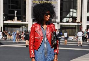 julia_sarr-jamois_denim-dress-red-leather-jacket