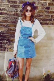 millie-mackintosh-style-fashion-clothes-blog-miss-selfridge-denim-pinafore-dress-floral-headcrown