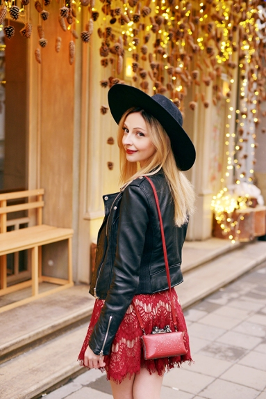 stylestalker-dress-feather-hat-zara-leather-jacket-street-style-fashion-blog-thefashionarea-angela-arutyunyan