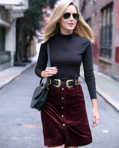 b-low-the-belt-bri-bri-gold-double-buckle-burgundy-corduroy-pencil-skirt-turtleneck-m2malletier-bag-work-wear-office-style-professional-mary-orton-memorandum-san-francisco-sf-style-fashion-blogger6
