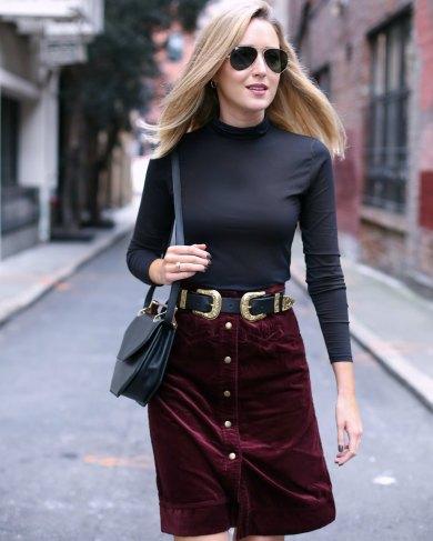 b-low-the-belt-bri-bri-gold-double-buckle-burgundy-corduroy-pencil-skirt-turtleneck-m2malletier-bag-work-wear-office-style-professional-mary-orton-memorandum-san-francisco-sf-style-fashion-blogger6
