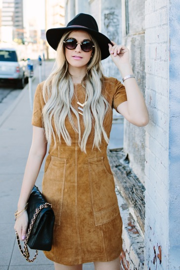 darling-suede-leather-tan-dress